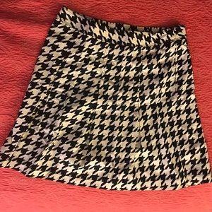 Knee length NWO Merona pleated skirt.